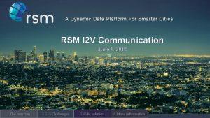 A Dynamic Data Platform For Smarter Cities RSM