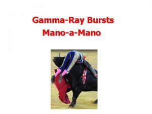 GammaRay Bursts ManoaMano GRB duration distribution Long Bursts