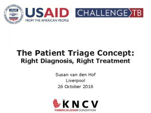 The Patient Triage Concept Right Diagnosis Right Treatment