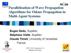 Parallelisation of Wave Propagation Algorithms for Odour Propagation