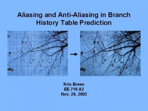 Aliasing and AntiAliasing in Branch History Table Prediction