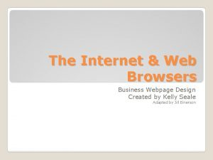 The Internet Web Browsers Business Webpage Design Created