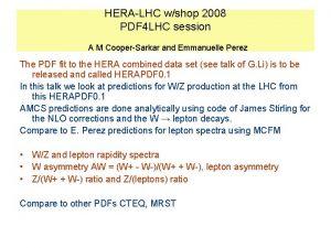 HERALHC wshop 2008 PDF 4 LHC session A