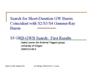 Search for ShortDuration GW Bursts Coincident with S