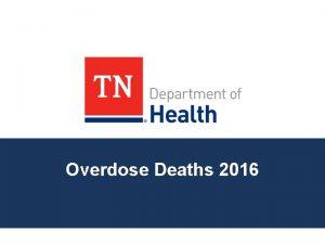Overdose Deaths 2016 Drug Overdose Deaths in Tennessee