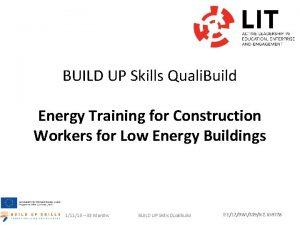 BUILD UP Skills Quali Build Energy Training for
