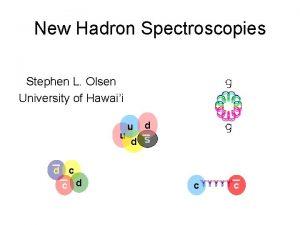 New Hadron Spectroscopies Stephen L Olsen University of