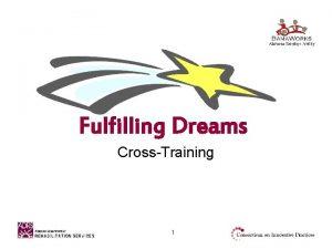 Fulfilling Dreams CrossTraining 1 Fulfilling Dreams A CrossTraining