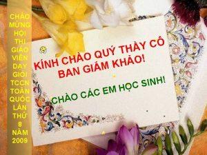 CHO MNG HI THI GIO VIN DY GII