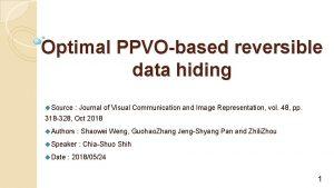 Optimal PPVObased reversible data hiding u Source Journal