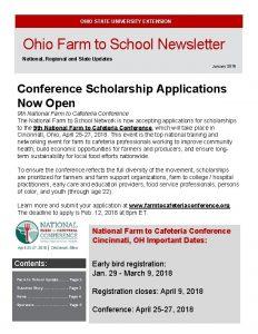 OHIO STATE UNIVERSITY EXTENSION Ohio Farm to School