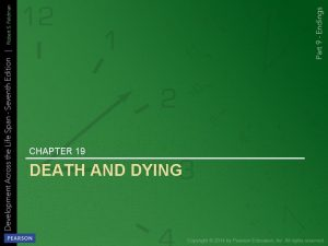 CHAPTER 19 DEATH AND DYING DYING AND DEATH