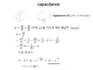 capacitance Capacitance C unit F Faraday t time