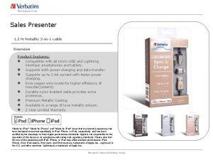 Sales Presenter 1 2 M Metallic 2 in1