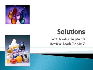 Solutions Text book Chapter 8 Review book Topic