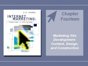 Chapter Fourteen Marketing Site Development Content Design and