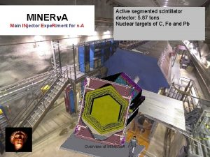 MINERn A Main INjector Expe Riment for vA