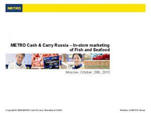 METRO Cash Carry Russia Instore marketing of Fish