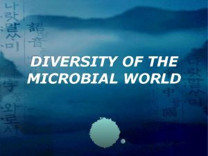 DIVERSITY OF THE MICROBIAL WORLD Microbial World A