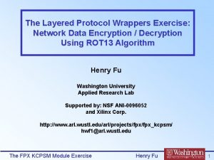 The Layered Protocol Wrappers Exercise Network Data Encryption