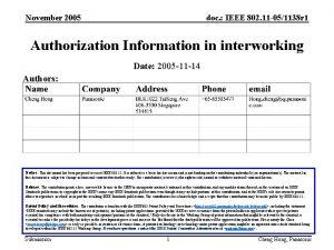 November 2005 doc IEEE 802 11 051138 r
