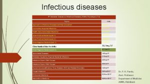 Infectious diseases 5 th Semester Classes on Infectious