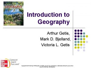 Introduction to Geography Arthur Getis Mark D Bjelland