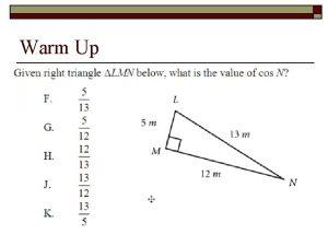 Warm Up Literal Equations Literal Equations o o