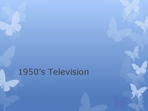 1950s Television History of Television After WWII families
