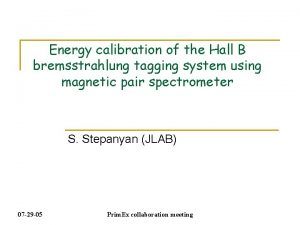 Energy calibration of the Hall B bremsstrahlung tagging