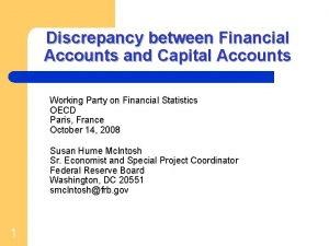 Discrepancy between Financial Accounts and Capital Accounts Working