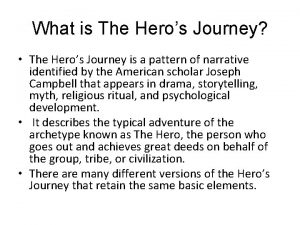 What is The Heros Journey The Heros Journey