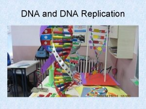 DNA and DNA Replication Discovery of DNA an