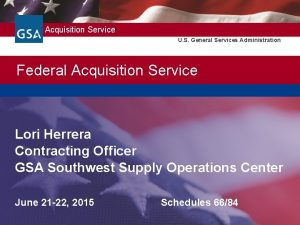 Federal Acquisition Service U S General Services Administration