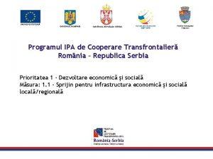 UNIUNEA EUROPEAN GUVERNUL ROM NIEI GUVERNUL REPUBLICII SERBIA