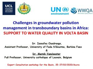Challenges in groundwater pollution management in transboundary basins