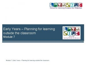 Early Years Planning for learning outside the classroom