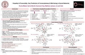 Empathy Prosociality Key Predictors of Connectedness Wellbeing in