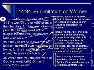 14 34 36 Limitation on Women gynaikes women