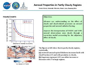 Aerosol Properties in Partly Cloudy Regions LOGOS Tams