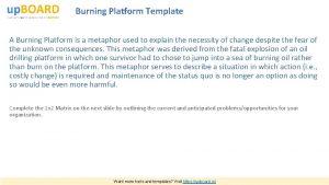 Burning Platform Template A Burning Platform is a