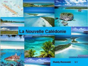 La Nouvelle Caldonie Maddy Ronowski 5 1 La
