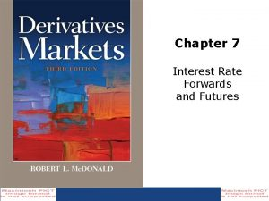 Chapter 7 Interest Rate Forwards and Futures Bond