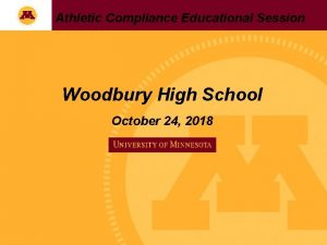 Athletic Compliance Educational Session Woodbury High School October