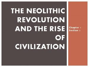 THE NEOLITHIC REVOLUTION AND THE RISE OF CIVILIZATION