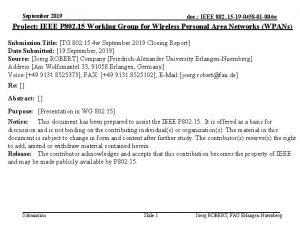 September 2019 doc IEEE 802 15 19 0458
