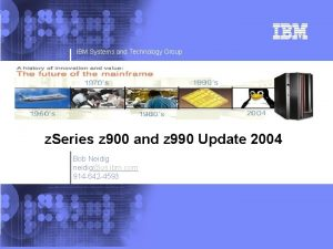 IBM e Server IBM Systems and Technology Group