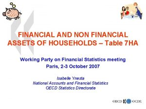 FINANCIAL AND NON FINANCIAL ASSETS OF HOUSEHOLDS Table