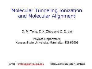 Molecular Tunneling Ionization and Molecular Alignment X M