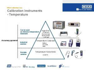 WIKA Calibration Line Calibration instruments Temperature Can be